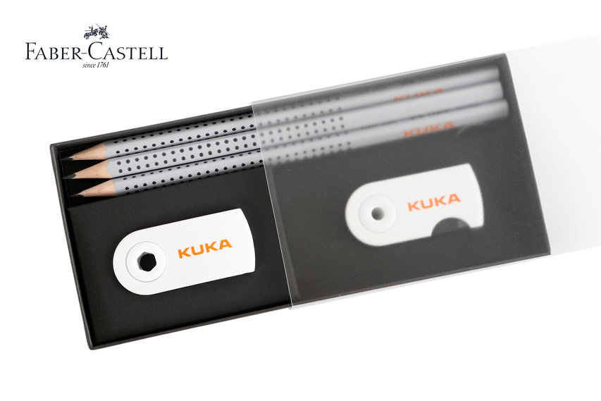Faber-Castell-Schreibset mit KUKA Logo