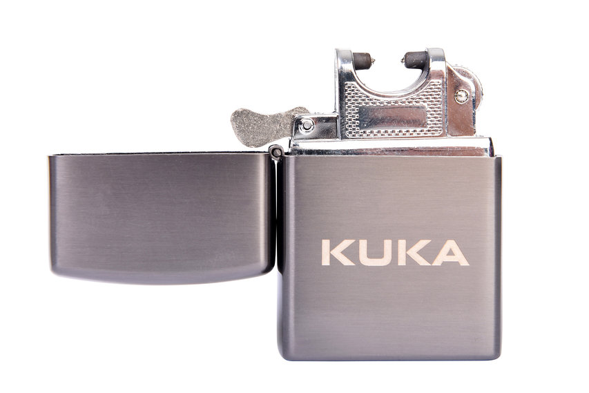 Feuerzeug mit Lichtbogen von KUKA